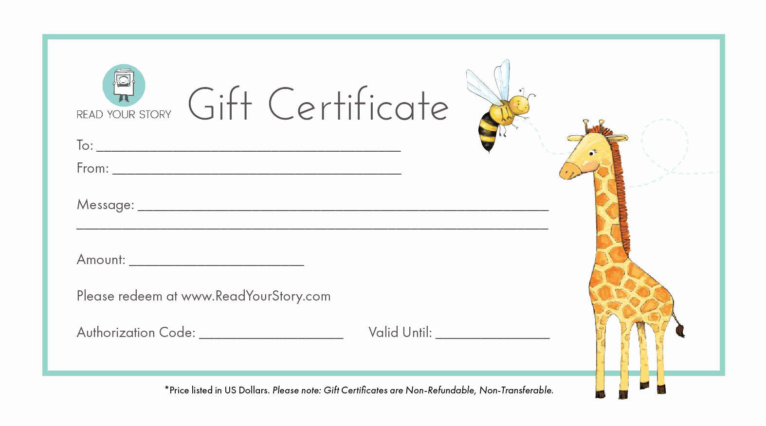 Book Fair Gift Certificate Template Lovely Gift Certificate for Personalized Books