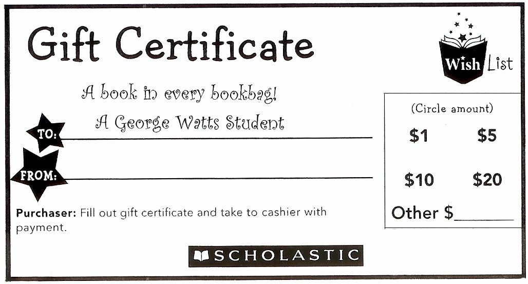 Book Fair Gift Certificate Template Luxury Book Fair December 3 10 2012