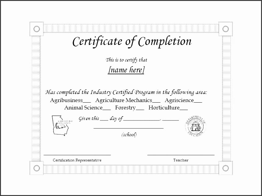 Borrowing Base Certificate Template Awesome 11 Certificate Pletion Template Printable