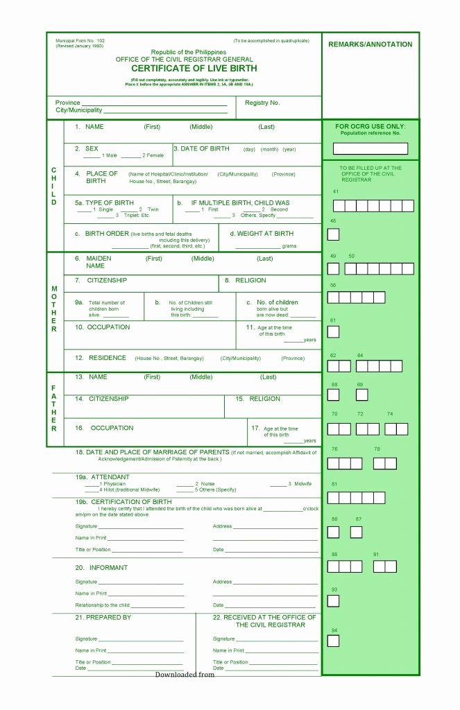 Borrowing Base Certificate Template Excel Fresh Blank Birth Certificate form Pdf format