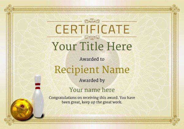Bowling Certificate Template Free Fresh Free Ten Pin Bowling Certificate Templates Inc Printable