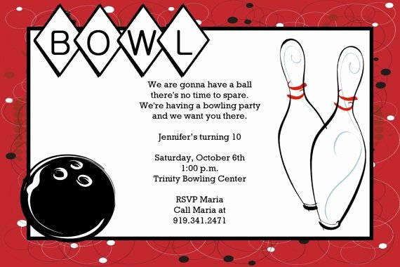 Bowling Certificate Template Free New Bowling Printable Birthday Party Invitation