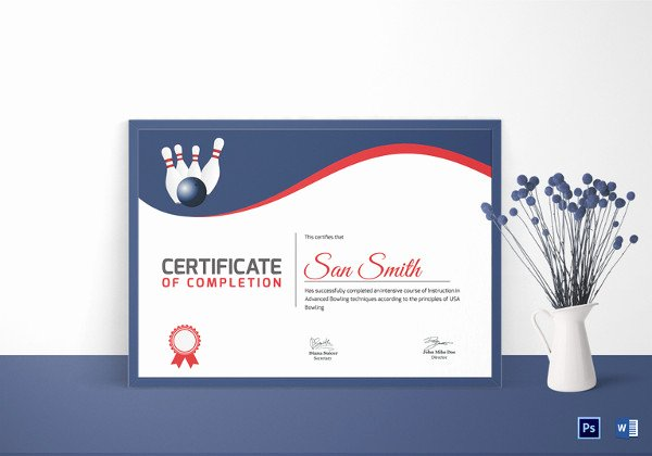 Bowling Certificate Templates Free Best Of 31 Sports Certificate Templates Word Pdf Ai Indesign