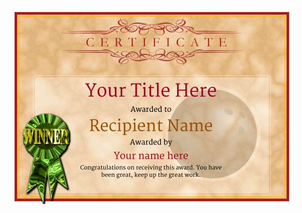 Bowling Certificate Templates Free Best Of Free Ten Pin Bowling Certificate Templates Inc Printable