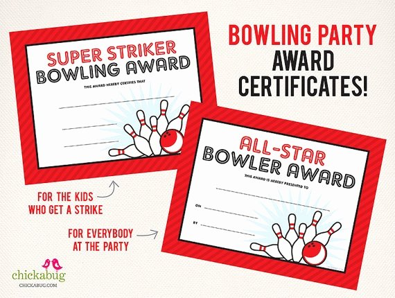 Bowling Certificate Templates Free Unique 17 Best Images About Bowling theme Party On Pinterest