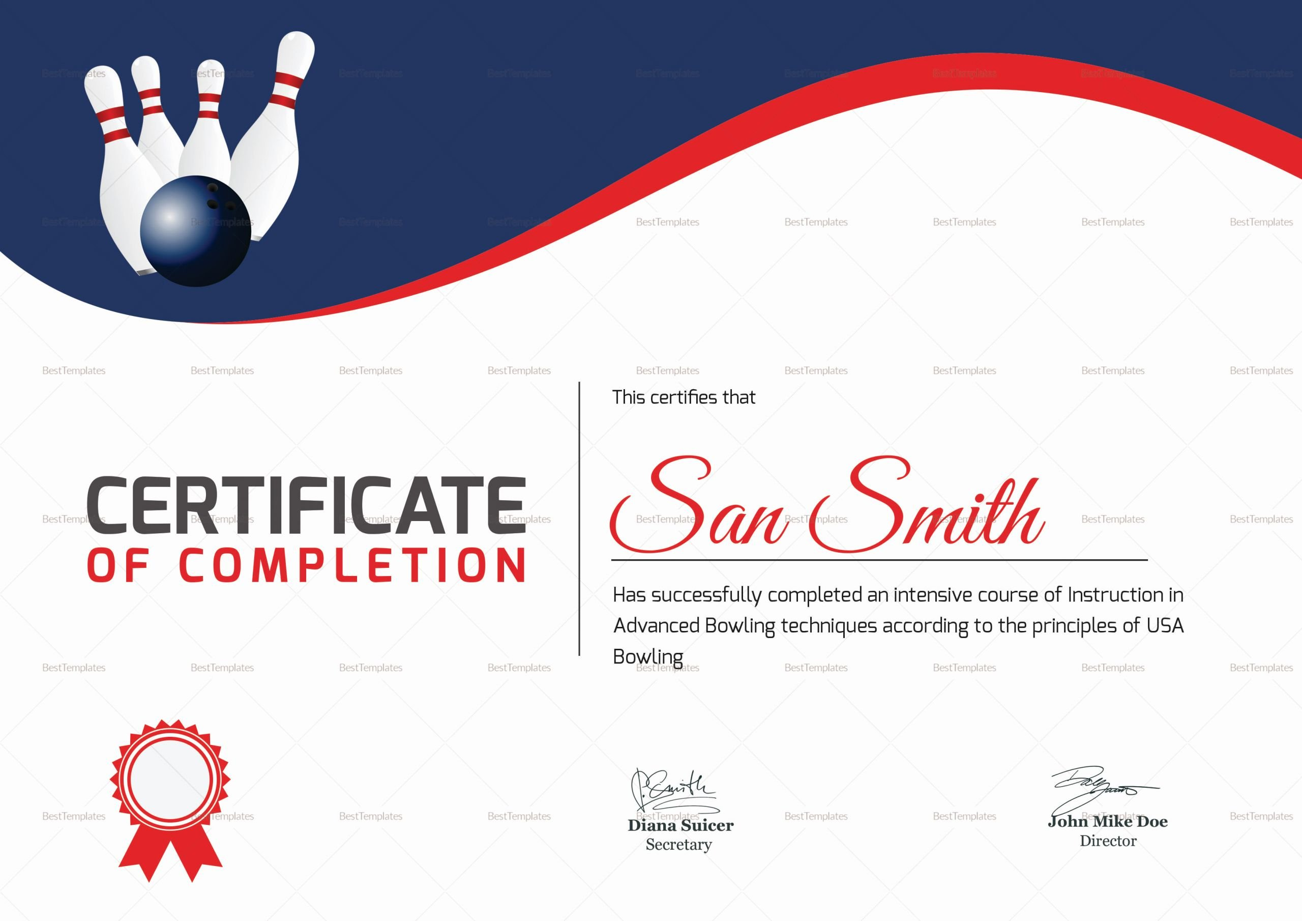 Bowling Certificate Templates Free Unique Printable Bowling Certificate Design Template In Word Psd