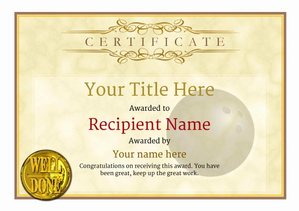 Bowling Certificates Template Free Awesome Free Ten Pin Bowling Certificate Templates Inc Printable