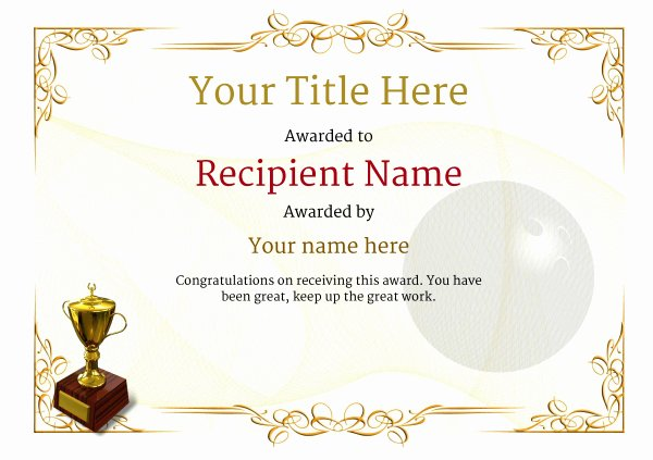 Bowling Certificates Template Free Best Of Free Ten Pin Bowling Certificate Templates Inc Printable