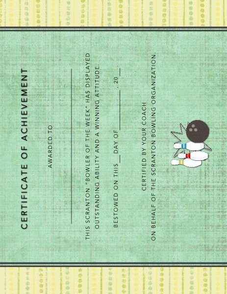 Bowling Certificates Template Free Luxury Bowling Award Certificate Designed by Roxanne Buchholz 8