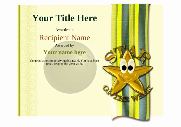 Bowling Certificates Template Free Unique Free Ten Pin Bowling Certificate Templates Inc Printable