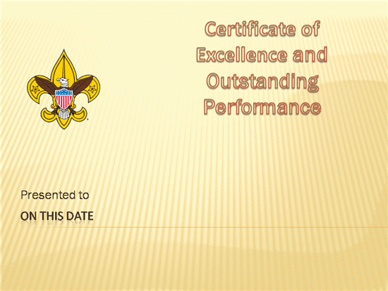 Boy Scout Certificate Of Appreciation Templates Elegant Bsa Certificate Templates