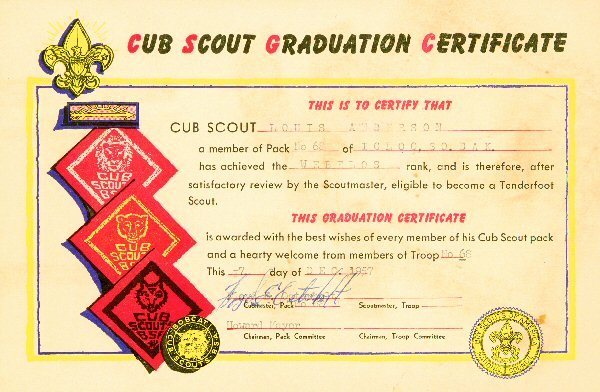 Boy Scout Certificate Template Inspirational Evite for Cub Scouts