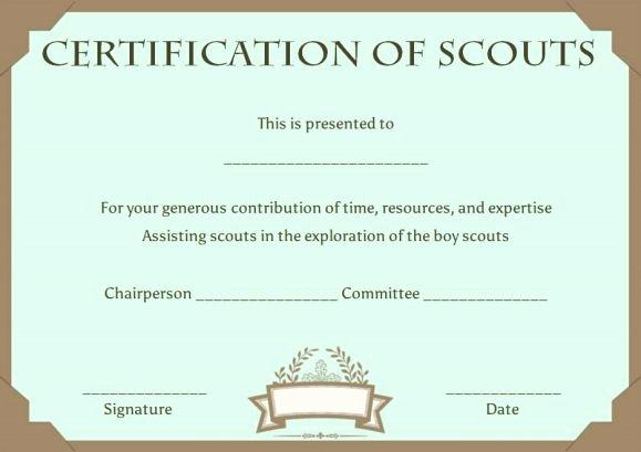 Boy Scout Certificates Templates Awesome Cub Scout Advancement Certificates Printable