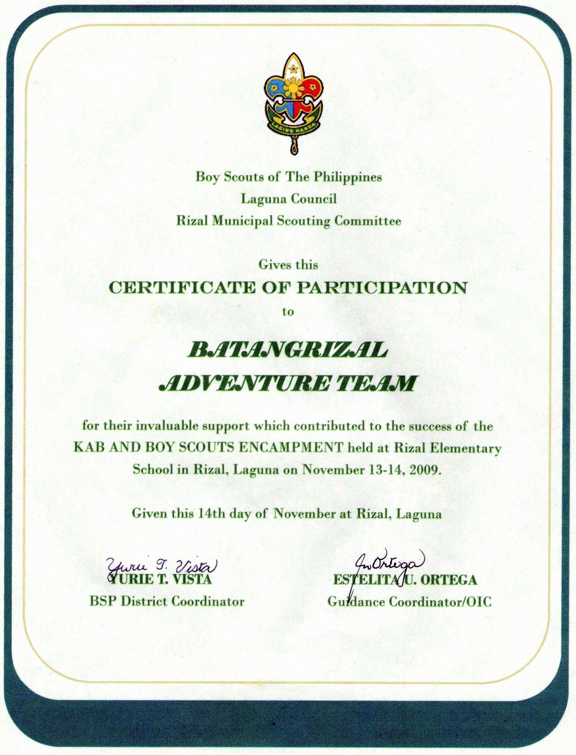 Boy Scout Certificates Templates Luxury Certificate Appreciation Template Boy Scouts