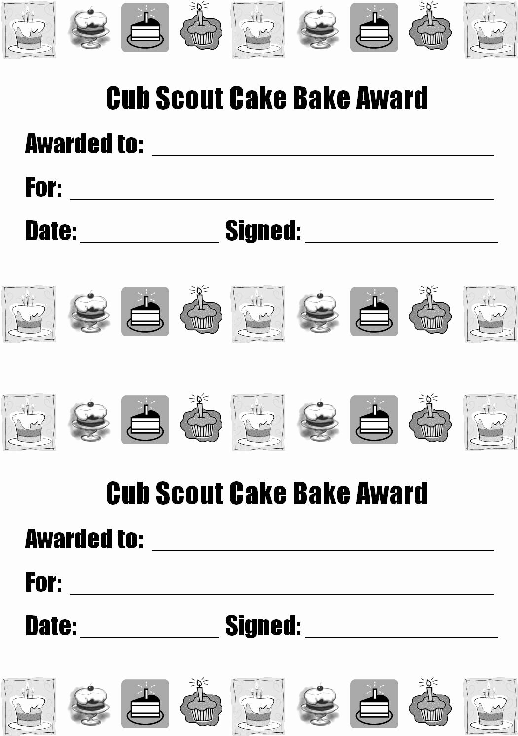 Boy Scout Certificates Templates Unique Strong Armor Cub Scouts Blue & Gold Dinner Cake Bake Awards