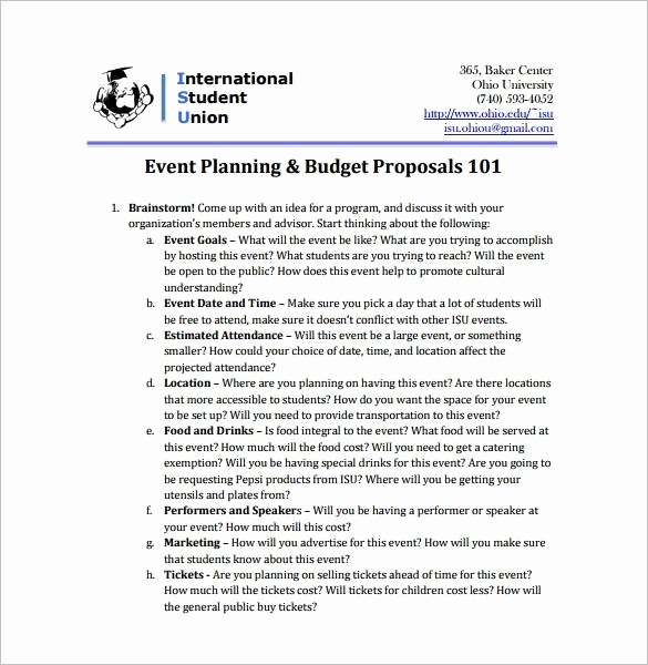 Budget Proposal Letter Elegant Free 13 event Bud Proposal Templates In Pdf