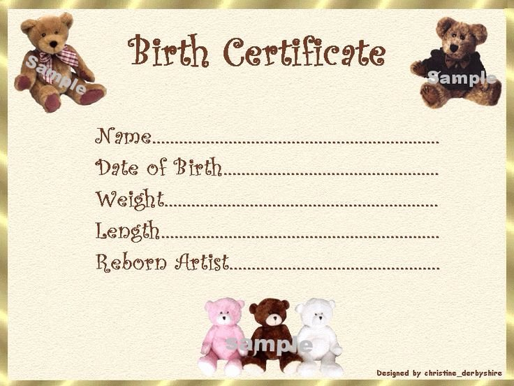 Build A Bear Birth Certificate Template Best Of 10 Best Images About Teddy Adoption On Pinterest