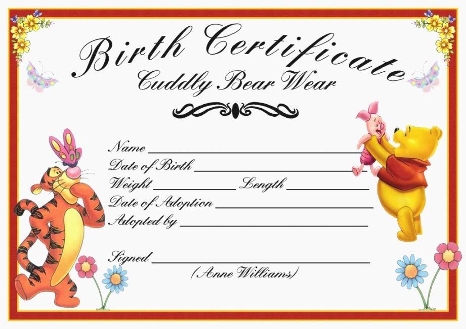 Build A Bear Birth Certificate Template Inspirational top 37 Unusual Printable Build A Bear Certificate
