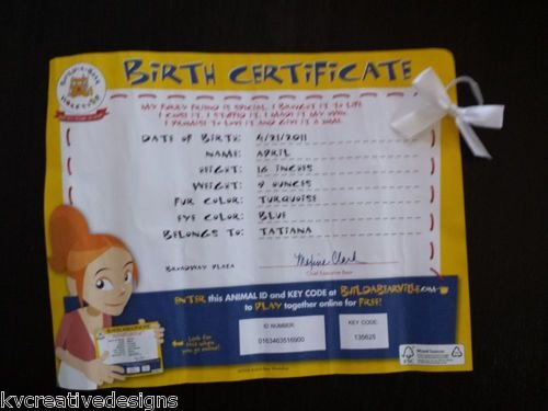 Build A Bear Certificate Maker Awesome Build A Bear Workshop Birth Certificate for Turquoise Blue