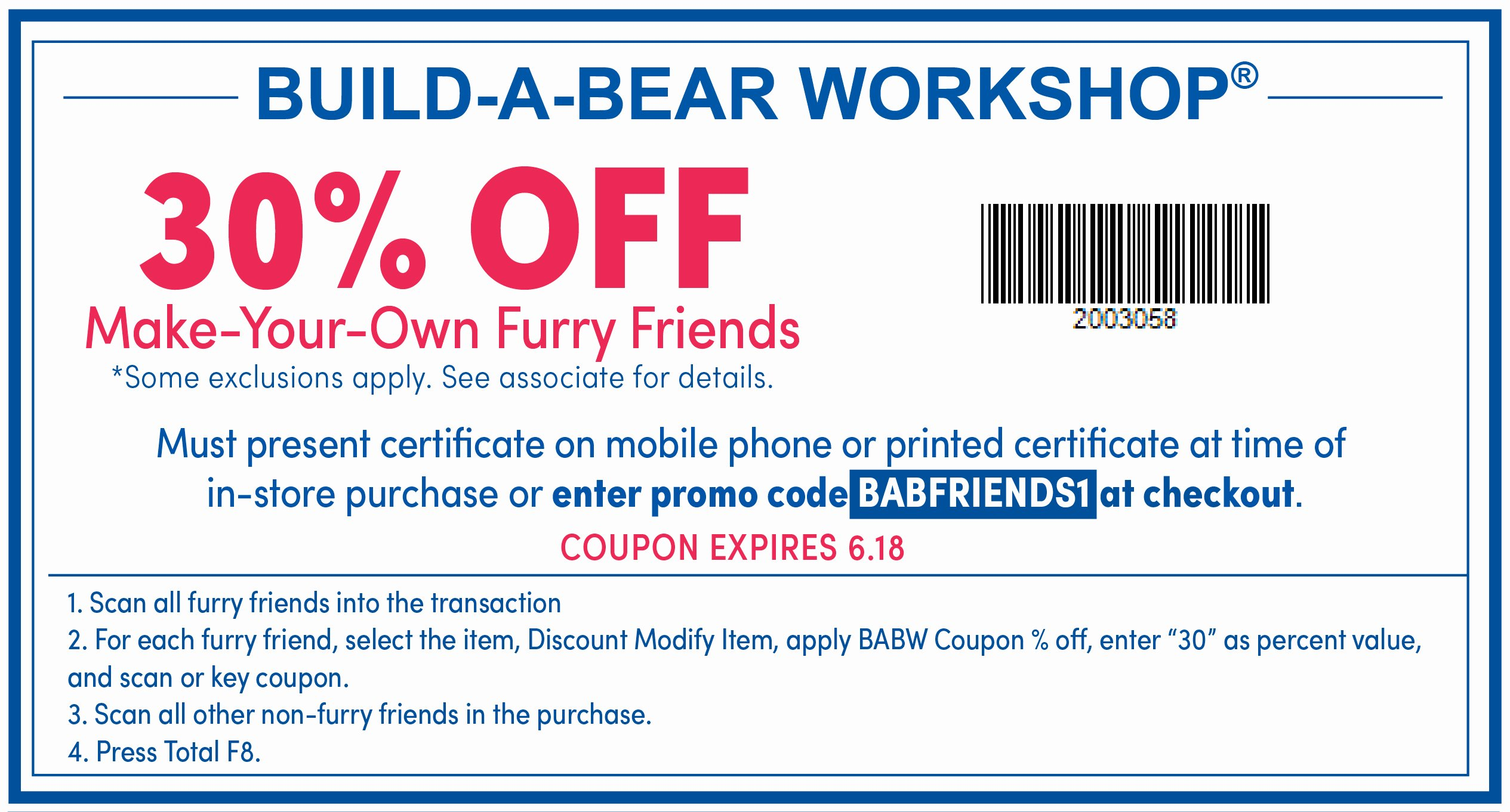 Build A Bear Certificate Maker Luxury Build A Bear Friends and Family Save Off June 15 18