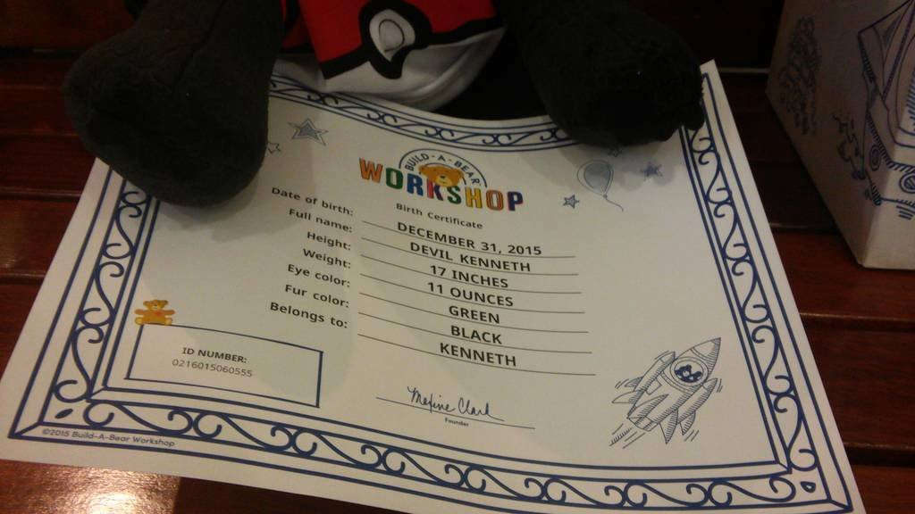Build A Bear Certificate Maker Unique Build A Bear Birth Certificate by Kaijudialga On Deviantart