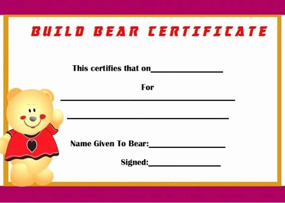 Build A Bear Certificate Template Elegant What Do I Need to Get A New Birth Certificate Elegant