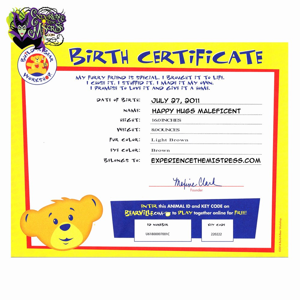 Build A Bear Certificate Template Unique Index Of Cdn 29 2000 195