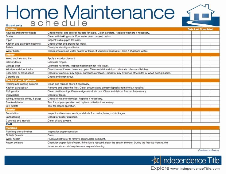 Building Maintenance Checklist Pdf Awesome Building Maintenance Checklist
