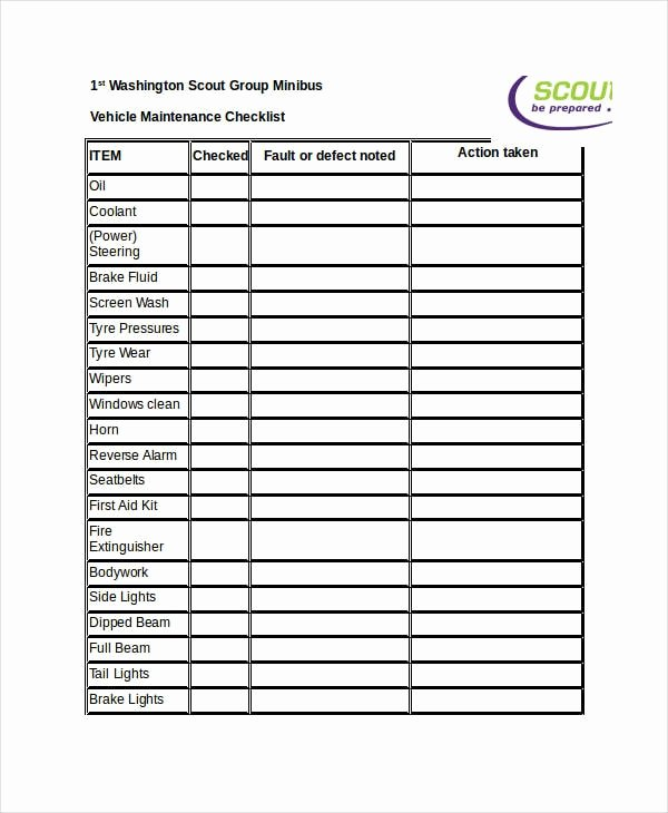 Building Maintenance Checklist Pdf Best Of Free 22 Maintenance Checklist Examples & Samples In