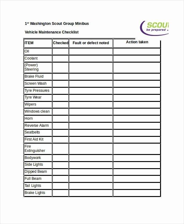Building Maintenance Checklist Pdf New Free 22 Maintenance Checklist Examples & Samples In