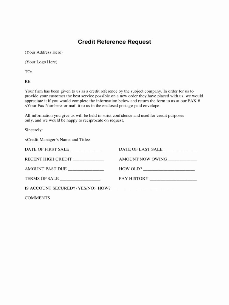 Business Credit Reference form New Business Credit Reference Check form Business Registratio