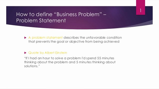 Business Problem Statement Example Awesome How to Define Business Problem Statement