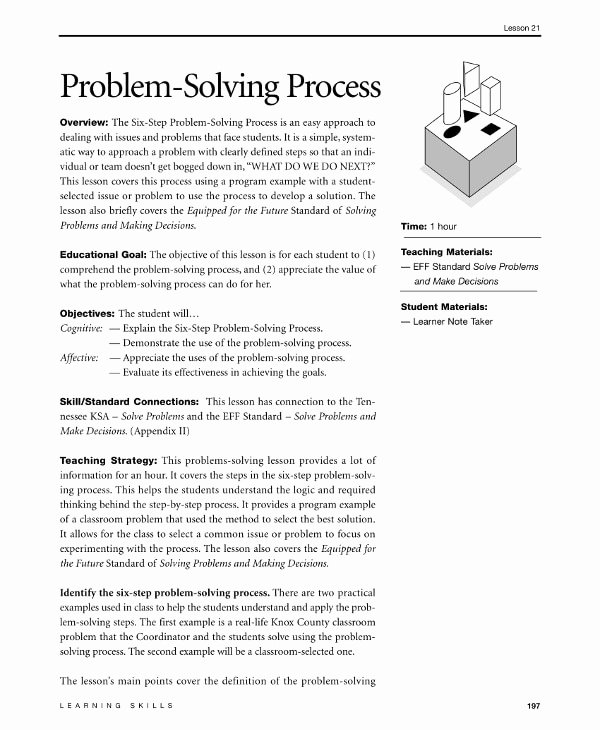 business problem solving proposal examples