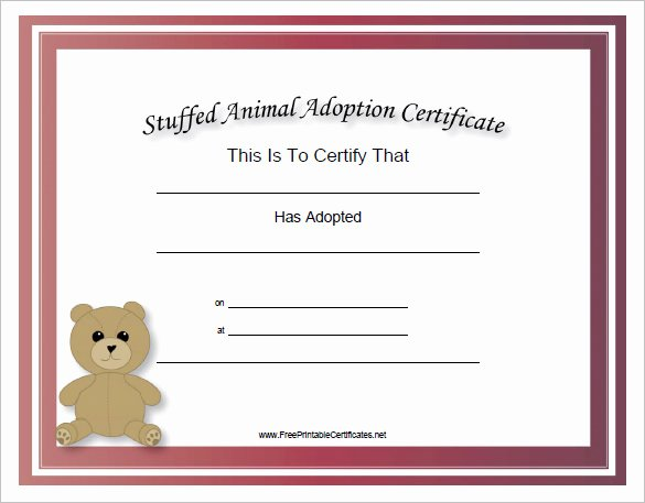 Cabbage Patch Birth Certificate Template Awesome 30 Of toy Adoption Certificate Template