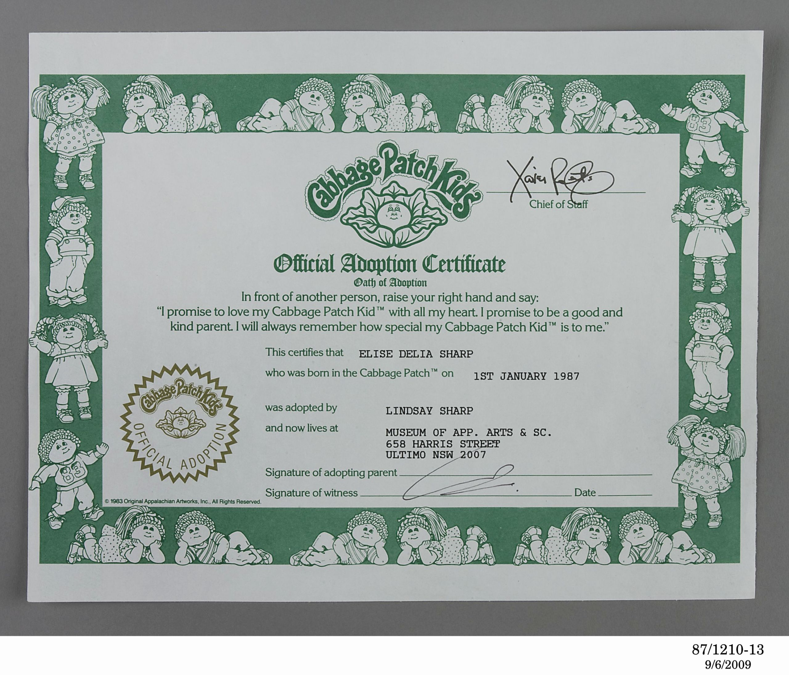 Cabbage Patch Doll Birth Certificate Template Beautiful Cabbage Patch Kid Birth Certificate Template Templates Data