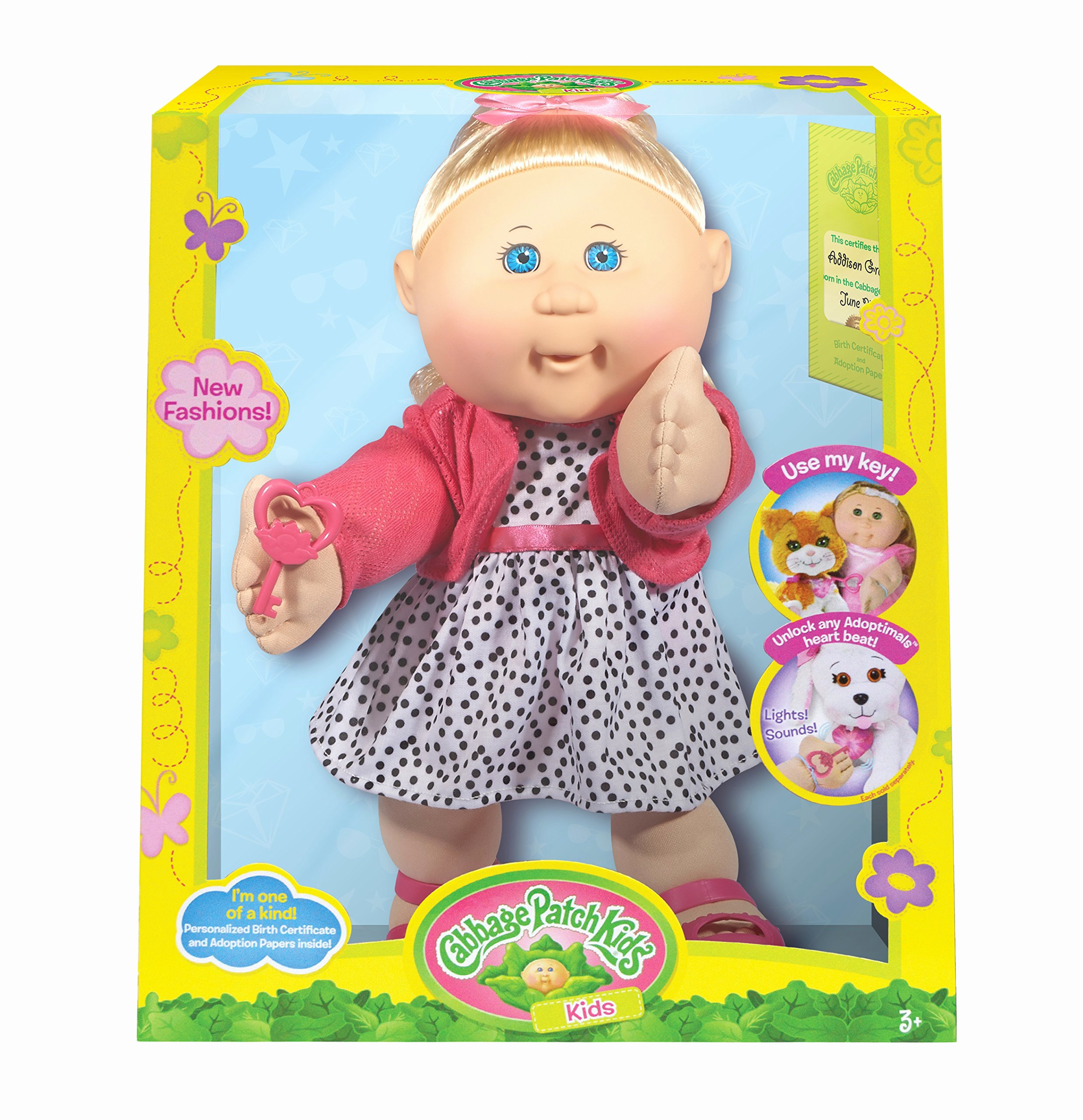 """Cabbage Patch Doll Birth Certificate Template Best Of Cabbage Patch Kids 14"""" Kids Blonde Hair Blue Eye Girl"""