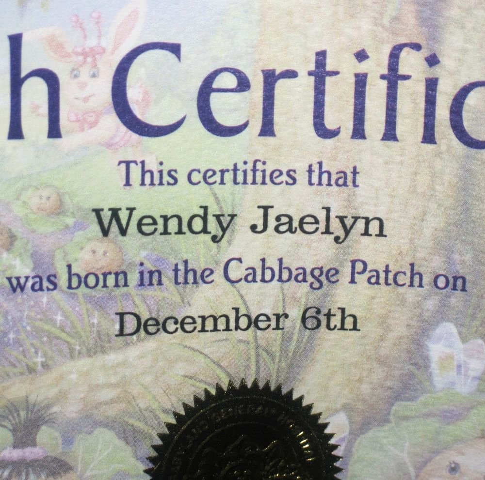 Cabbage Patch Kid Birth Certificate Template Best Of Modern Cabbage Patch Kid Birth Certificate Adoption Papers