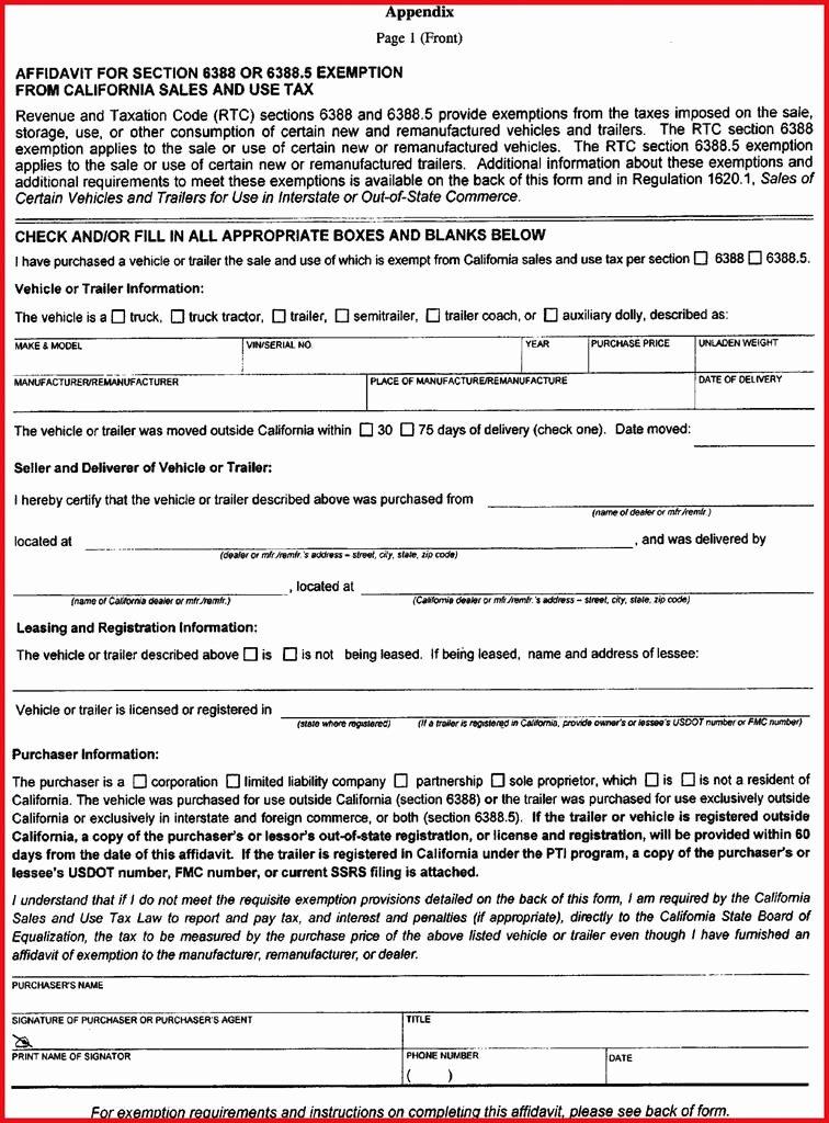 California Resale Certificate Template Elegant Texas Motor Vehicle S Tax Exemption Certificate