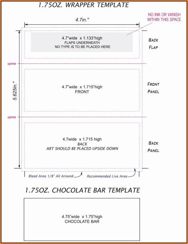 Candy Bar Wrapper Template Word Beautiful Candy Bar Wrapper Template for Word Festivalscatalunya