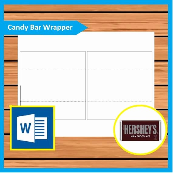 Candy Bar Wrapper Template Word Lovely Hershey Candy Bar Wrapper Template Instant Download Ms