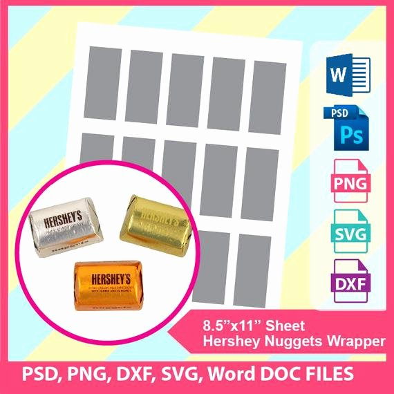 Candy Wrapper Template Word Best Of Hershey Candy Bar Wrapper Template Microsoft Word Doc Psd