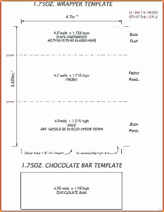 candy bar wrapper templates free word format for template c