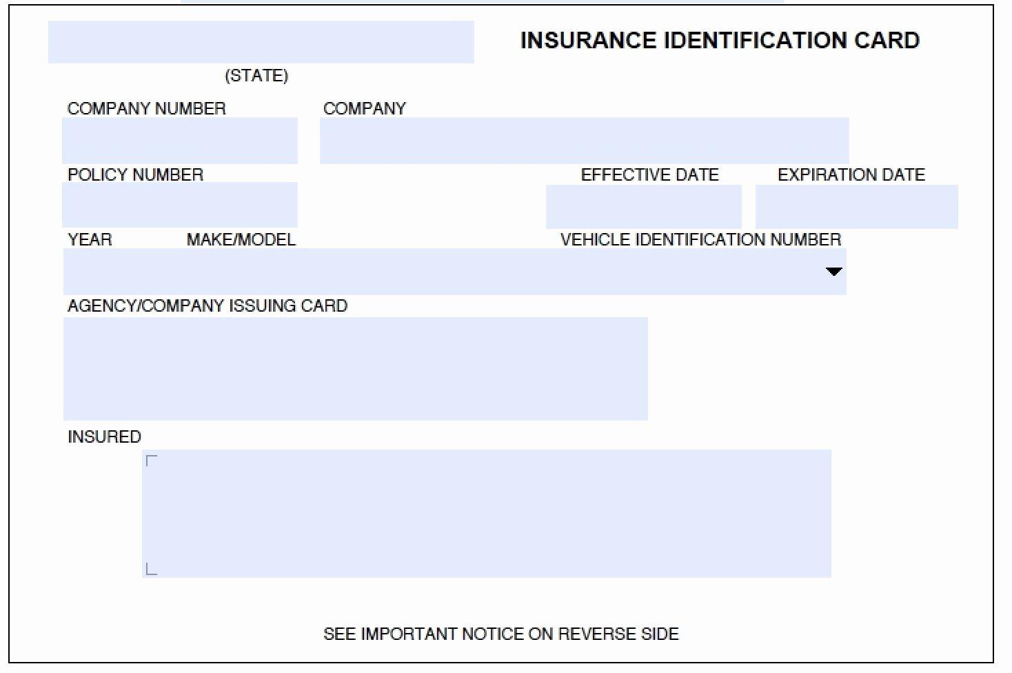 Car Insurance Card Template Beautiful American In E Life Business Card Template