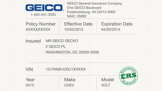 Car Insurance Card Template Fresh 5 Best Of Proof Insurance Card Template Geico
