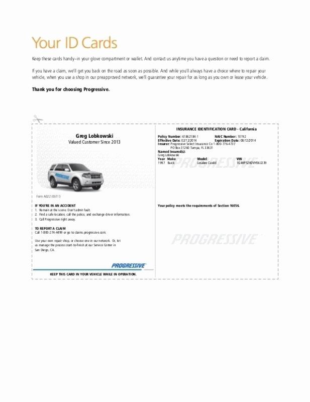 Car Insurance Template Inspirational Auto Insurance Card Template
