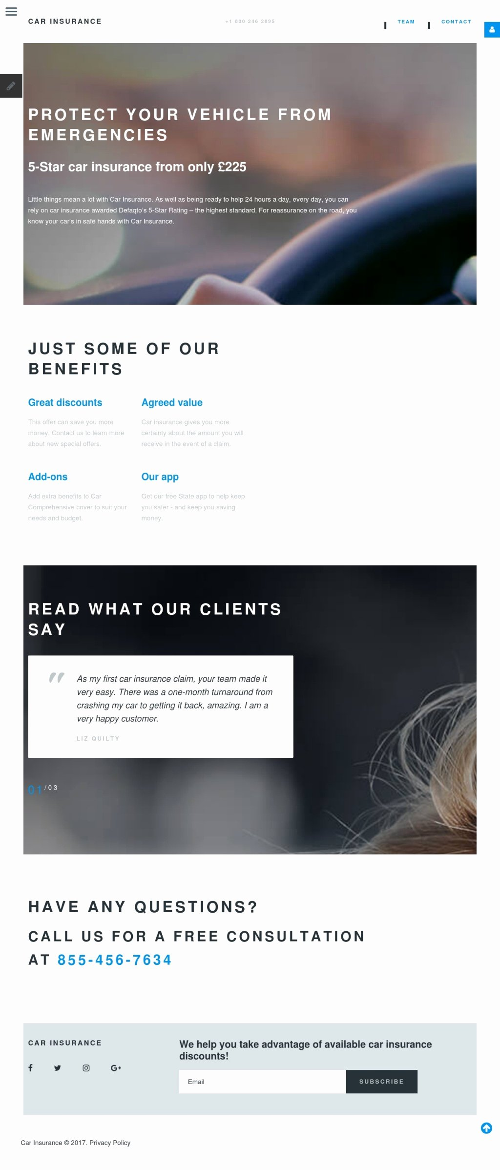 Car Insurance Templates Free Awesome Car Insurance Joomla Template by Template Monster