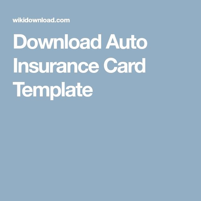 Car Insurance Templates Free Download Awesome Download Auto Insurance Card Template Id In 2019