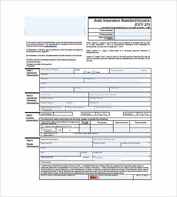 Car Insurance Templates Free Download Lovely Auto Insurance Standard Invoice Standard Invoice