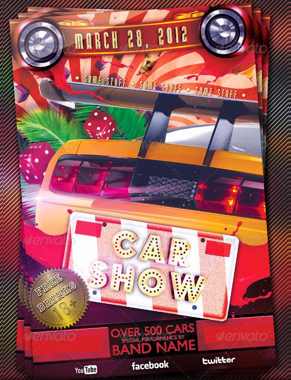 Car Show Award Certificate Template Beautiful 25 Car Show Flyer Templates Free & Premium Download