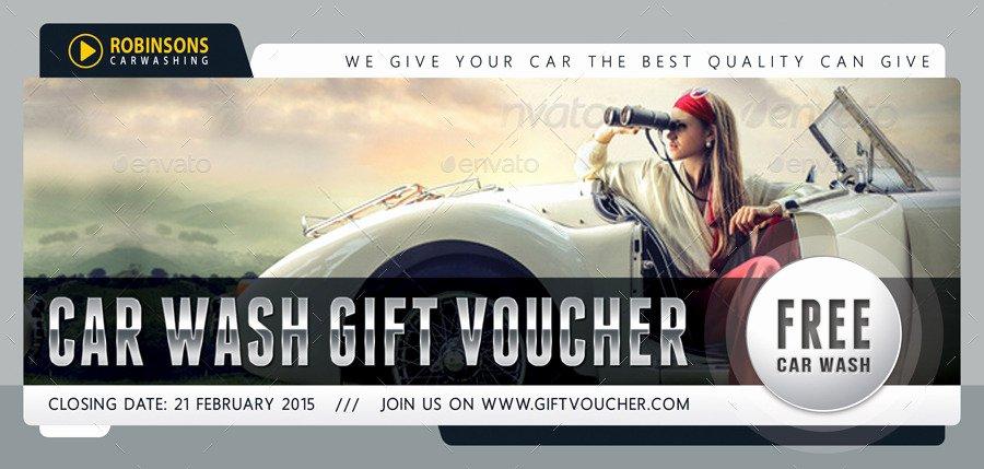Car Wash Gift Certificate Template Beautiful Car Wash Gift Voucher Template V03 by Rapidgraf